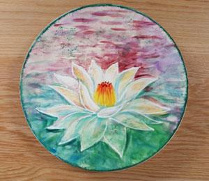 Santa Monica Lotus Flower Plate