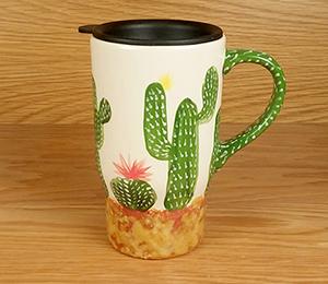 Santa Monica Cactus Travel Mug