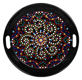 Santa Monica Mosaic Mandala Tray