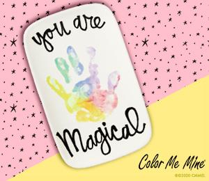 Santa Monica Rainbow Hand-print