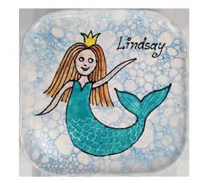 Santa Monica Mermaid Plate